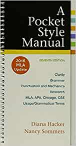 a pocket style manual 2016 mla update edition free download
