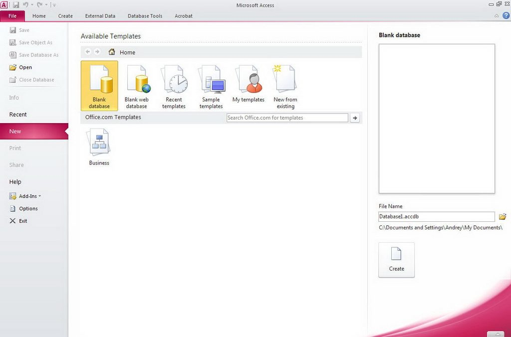 ms access 2010 user manual free download
