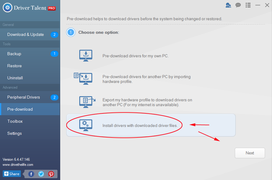 manually downloading drivers for new computer