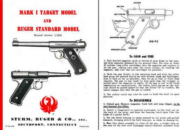 ruger mark ii government target model owners manual